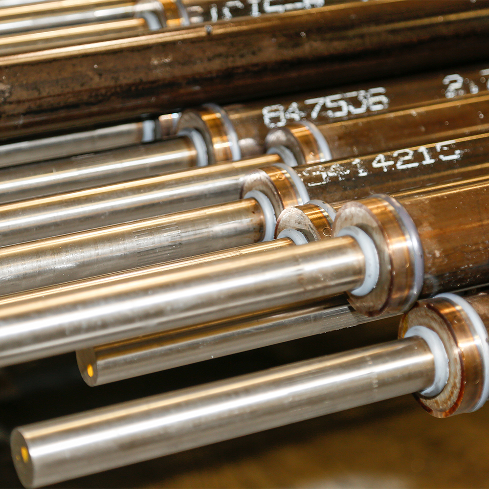 Inertia Friction Welding allows dissimilar metals to be joined, which reduces raw material cost.